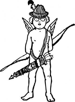 free vector Tyrol Cupid clip art