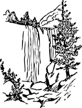 free vector Water Fall clip art