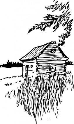 Cabin On The Plains clip art