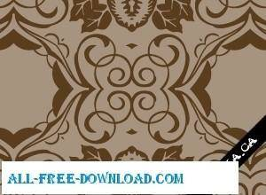 free vector Brown Seamless Wallpaper