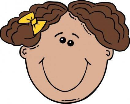 Girl Face Cartoon clip art