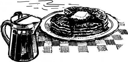 Pancakes And Syrup clip art