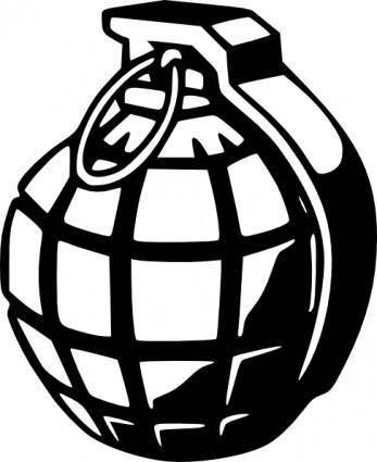 Hand Grenade clip art