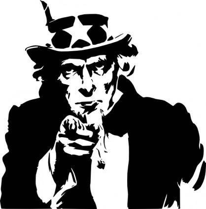 free vector Uncle Sam Pointing clip art