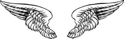 free vector Angel Wings clip art