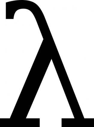 Greek Letter Lambda clip art