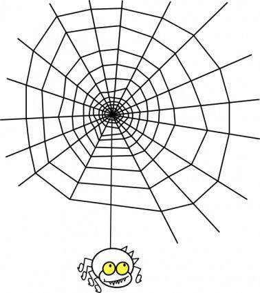 free vector Ragno The Spider With A Simple Web clip art