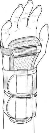 free vector Wrist Splint clip art