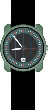 free vector Analog Wristwatch clip art