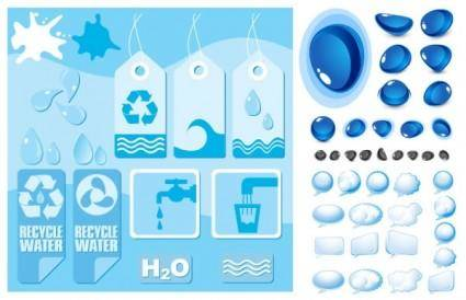 Water theme vector