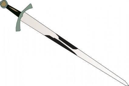 Black Grey Sword clip art