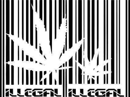 free vector Illegal clip art
