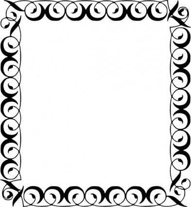 free vector Decorative Border clip art