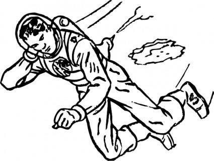 free vector Spaceman clip art