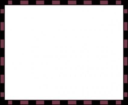 Worldlabel Com Border Burgundy Black X clip art