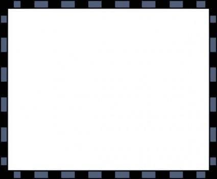 Worldlabel Com Border Blue Black X clip art