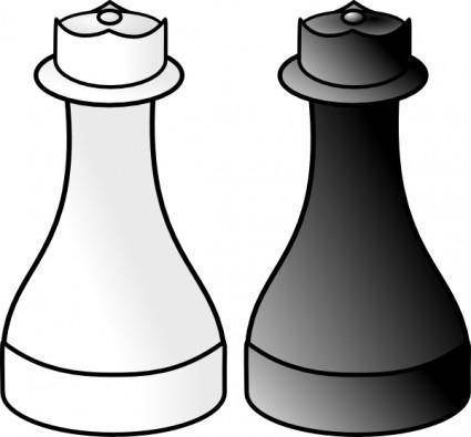 Black And White Queens clip art