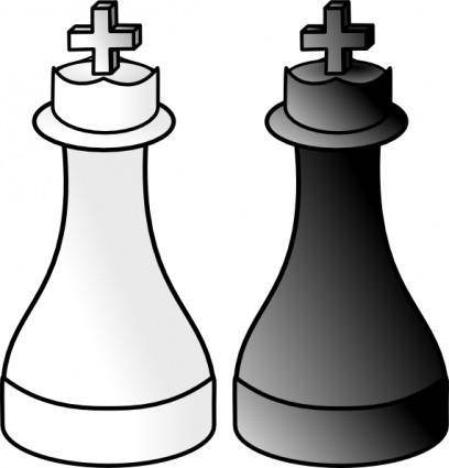 free vector Black And White Kings clip art