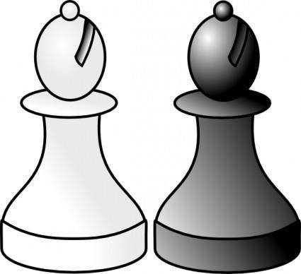 Black And White Bishops clip art