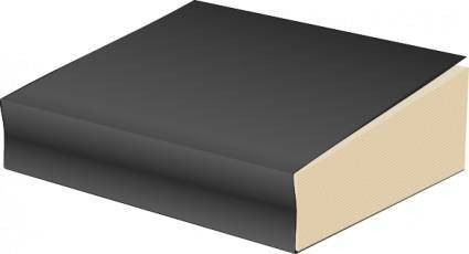 free vector Paperback Book, Black clip art
