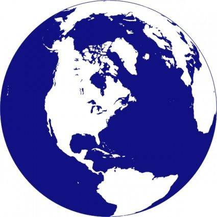 Northern Hemisphere Globe clip art