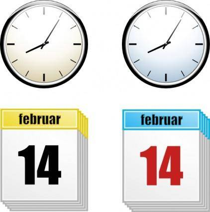 Time And Day  clip art