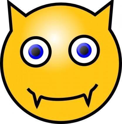Devil Smiley clip art