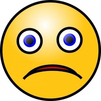 free vector Sad Smiley clip art