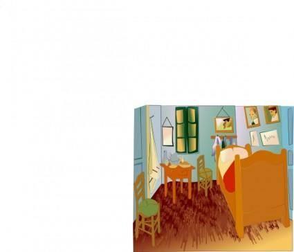 Van Gogh 's Room clip art