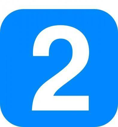 Number In Light Blue Rounded Square clip art