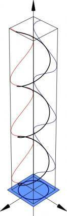 Polarisation Circular clip art