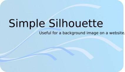 Simple Silhouette clip art