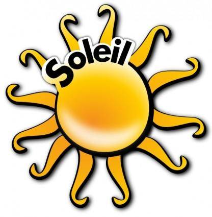 Sun With Text On Path clip art