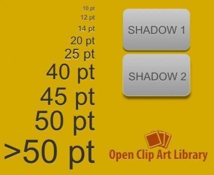 free vector Emboss Light Text Filter clip art