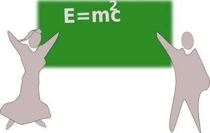 Einesteins E=mc2 Written Wrong E=m2c clip art
