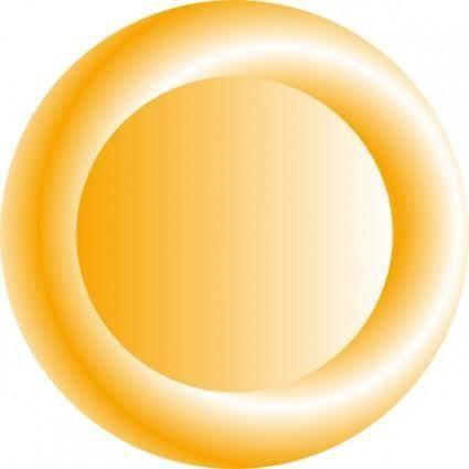 Orange Circular Button clip art