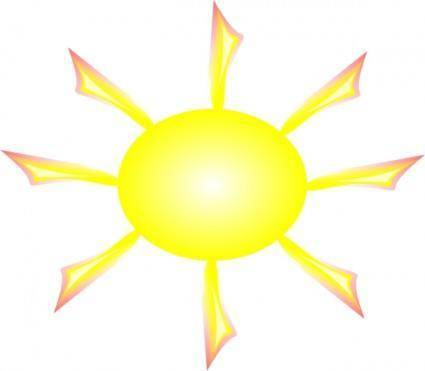 Sun And Rays clip art