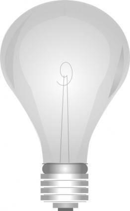 Gray Light Bulb clip art