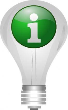 Light Bulb Info clip art
