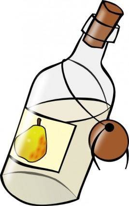 Bottle With Moonshine clip art