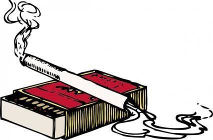 Cigarette And Matchbox clip art