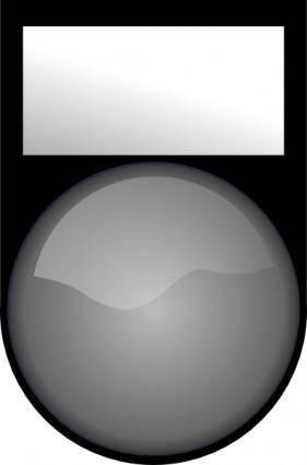 free vector Fatboy Voyant Blanc Eteint White Light Off clip art