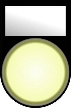 Fatboy Voyant Blanc Allume White Light On clip art