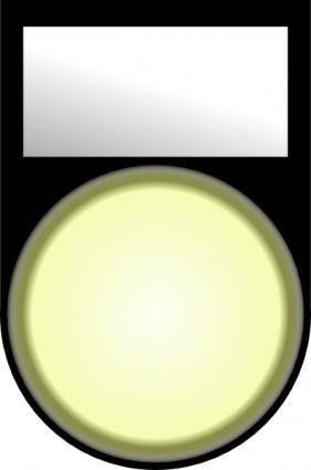 free vector Fatboy Voyant Blanc Allume White Light On clip art
