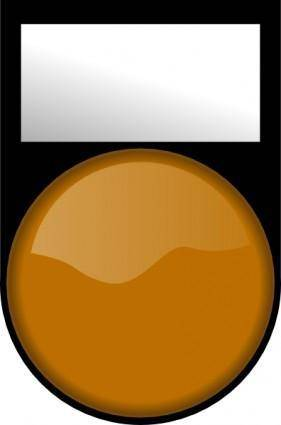 free vector Fatboy Voyant Orange Eteint Orange Light Off clip art