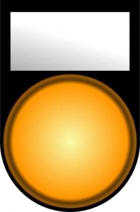 free vector Fatboy Voyant Orange Allume Orange Light On clip art