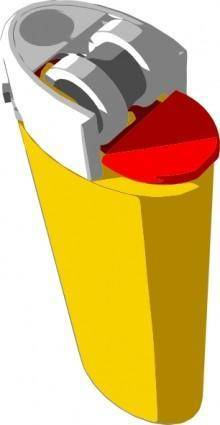 Yellow Lighter clip art