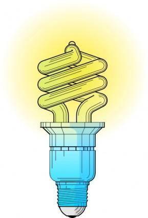 free vector Compact Fluorescent Light Bulb clip art