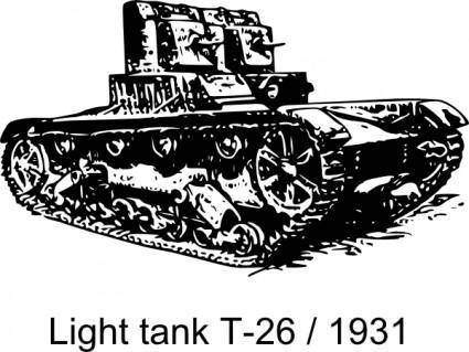 T-26 Light Tank 1931 clip art