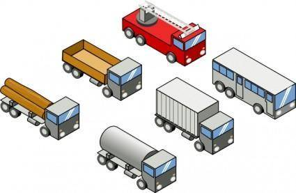 Isometric Vehicles clip art